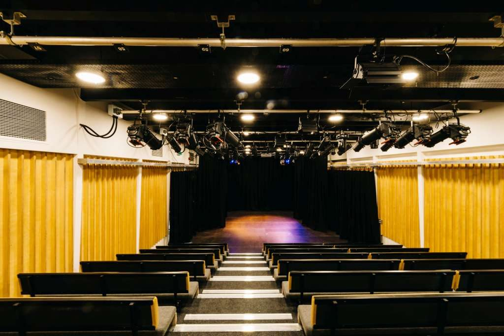 Theatre with Curtains Drawn - King Alfred Phoenix Theatre